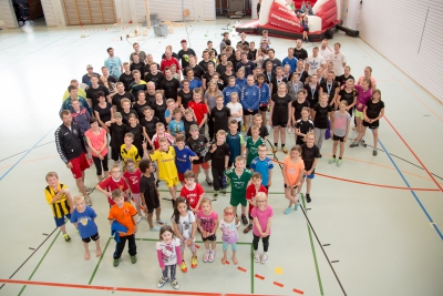 Mehr als 100 Personen nahmen am Familientag teil. (Bild: Esther Heinzer)