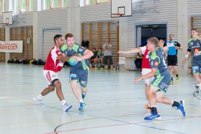 Micha Schelbert hier bei einem Durchbruch war zweit erfolgreichster Torschütze am Raiffeisen-Cup. (Bild: Esther Heinzer)