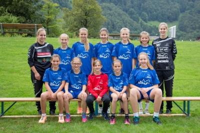 Die erfolgreichen FU14-Mädchen des KTV Muotathal. (Bild: Esther Heinzer)