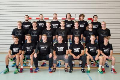 Die Herren mit ihrem schönen neuen Einlauf T-Shirt. (Bild: Esther Heinzer)