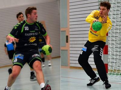 Pascal Gwerder (links) und Yves Imhof stehen nächste Saison beim BSV Stans unter Vertrag. (Bilder: Andy Scherrer)