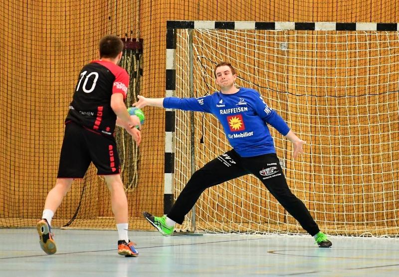 Florian Oechslin war ein verlässlicher Rückhalt, denn in der wichtigen Phase parierte er vier Penaltys. (Bild: Andy Scherrer)