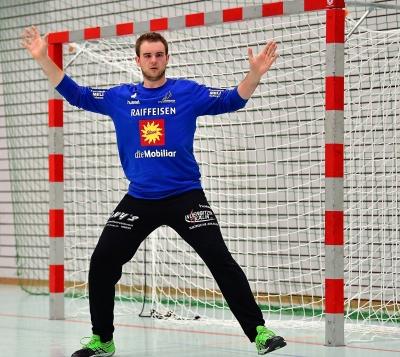 Im zweiten Umgang zeigte Florian Oechslin im Tor des KTV eine sehr gute Leistung und am Ende der Partie wurde er auch als Best-Player ausgezeichnet. (Bild: Andy Scherrer)