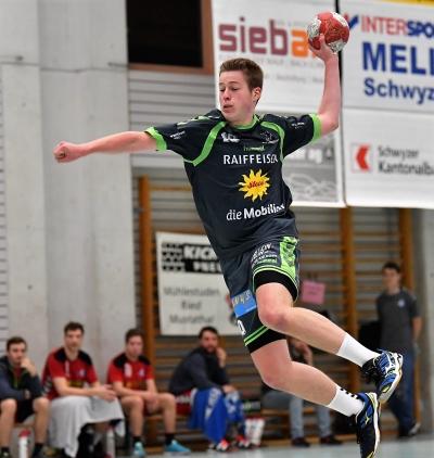 Pascal Gwerder holte in Bern mit seinem Team einen Punkt und erzielte sechs Tore. (Bild: Andy Scherrer)