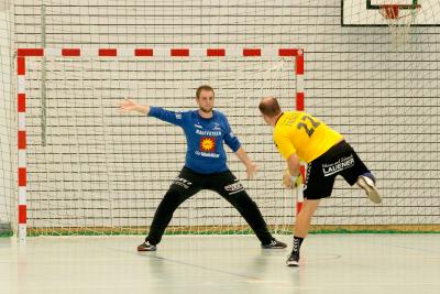 Best-Player Oechslin parierte 20 Schüsse und trug viel zum Sieg gegen Altdorf bei. (Bild: Esther Heinzer)