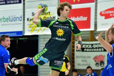 Best-Player Janik Nauer zeigte ein super Spiel und steuerte zum Sieg gegen Dagmersellen elf Tore bei. (Bild: Andy Scherrer)