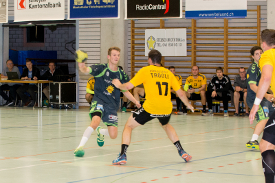 Der KTV Muotathal, hier mit dem jungen Janik Nauer am Ball, möchte zu Hause ungeschlagen bleiben. (Bild: Esther Heinzer)